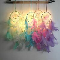 Dream Catcher Led Lighting Feather Room Bell Bedroom Romantic Hanging Decoration