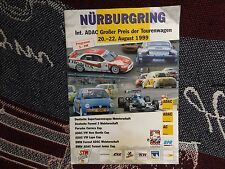1999 NURBURGRING PROGRAMME 22/8/99 - ADAC TOURING CAR GRAND PRIX STW