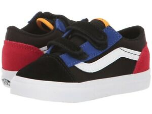 VANS Toddler Old Skool V Color Block Skate Shoe VN0A38JNVIG
