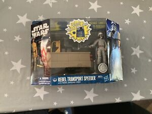 Star Wars Rebel Transport Speeder + Rebel Ground Crew Vehicle Set