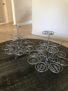 2 Three Tier Spiral Cupcake Display Stand Holds 13 Wilton