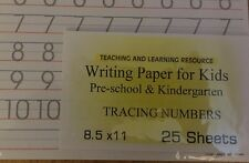 Writing Paper for Kids - Tracing Numbers - 11X 8.5 in, 20 lb, 25 sheets