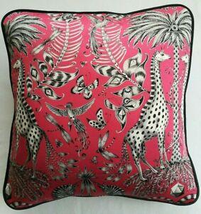 Emma J Shipley KRUGER MAGENTA cushion cover 41cm x 41cm (#1)