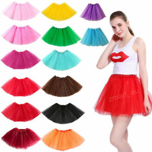 New Adults Tulle Tutu Skirt Dressup Party Costume Ballet Womens Girls Dance Wear