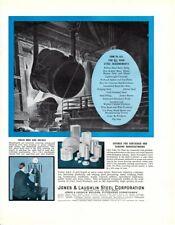 1936 Vintage print ad Jones & Laughlin Steel Corp Metallurgist Men add Value ad