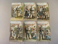 114241, Patriotische Postkarten, Serie LANDWEHRLIED, 6 Karten, WB+SS No. 925