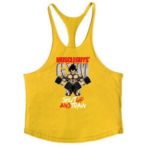Men's Stringer Muscle Bodybuilding Shirt Tank Top Gym Singlet Fitness Sport Vest