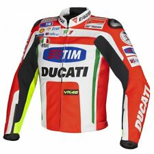 New Ducati Men's Leather Motorcycle-Motorbike Jacket Made With Cow Leather