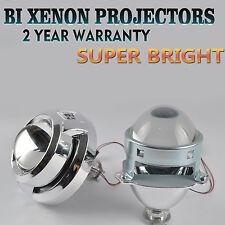"""Pair 3.0"""" Mini Bi-Xenon HID Projector Kit Lens Car Hi/Lo Headlights Shroud H1"""