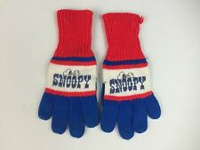 Vintage Snoopy Knitted Childs Gloves 1958 RARE!