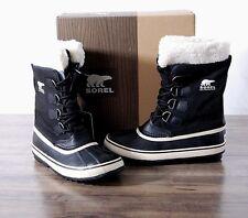 NEW Sorel Women's Winter Carnival Boot Size 8 MED Black Waterproof NL1495 Boots