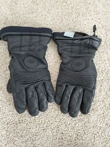 Harley-Davidson Men's LARGE Gore-Tex Leather RARE Gloves Black