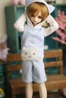 1/4 bjd doll hoodie hoodies clothes shorts pants outfit set suit MSD Blue