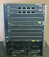 Cisco WS-C6509-E Chassis + 1x WS-SUP720-3B + 2x WS-X6704-10GE + 2x WS-CAC-6000W