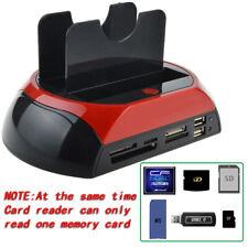 """Station d'accueil pour 2 disques dur 2,5""""3,5""""Sata Ide Sata USB2.0 Lecteur HDD SD"""