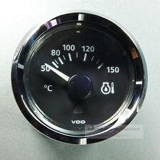 VDO TEMPERATURA INDICATORE OLIO 150 ° strumento oil gauge 12v Classic anello cromo