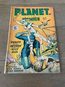 PLANET COMICS 54 Golden Age May 1948 Fiction Comics VG-