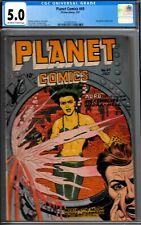 PLANET COMICS #49-CGC 5.0- 1947 HYPO PANEL-GOODGIRL ARTWK-EVANS