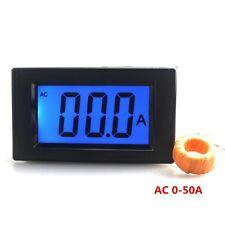 AC 50 A Digital Ammeter Current Tester Amp Ampere Panel Gauge LCD Blue Backlight