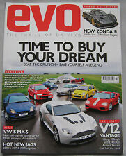 EVO magazine 03/2009 featuring Pagani Zonda R, Aston Martin, Jaguar, Lotus