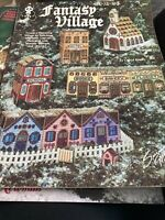 Fantasy Village Plastic Canvas Needlepoint Pattern Booklet 2307 Suzanne McNeil