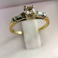 14K Gold 5 Genuine Diamonds Bridal Knot Ring Hallmarked