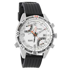 Timex Intelligent Mens White Quartz Chronograph Black Strap Watch T49866