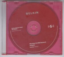 Belkin Installation CD ONLY Wireless G USB Network Adapter Windows 2000 XP Vista