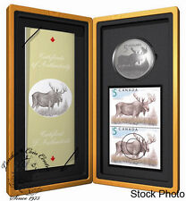 Canada 2004 $5 Limited-Edition Stamp & Coin Set. The Majestic Moose