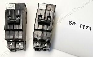 (2) Eaton Heinemann 20A DM/S Series DIN Rail Mount Circuit Breakers - Stk#SP1171