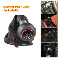 5 Speed For Audi A3 00-03 Gear Shift Knob Gaiter Boot Frame Stick Cover Kit 12mm