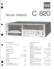 Dual Original Service Manual für C 820