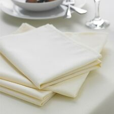 IVORY CREAM NAPKINS - QUALITY TWILL POLY COTTON TABLE LINEN -PACK OF 4- BARGAIN!