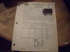 1946 1947 CHEVROLET FLEETMASTER UNITED MOTORS DELCO GM RADIO SERVICE SHOP MANUAL