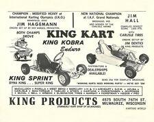 Vintage 1965 King Kart Sprint & Enduro Go-Kart Ad