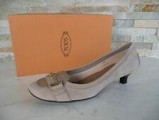 ORIG tods Tod 's talla 36 de salón zapato bajo zapatos Shoes beige nuevo PVP 320 €