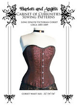 Victorian real Corset Paper Sewing Pattern, steampunk, Vintage, Large, Tutorial