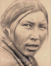 1900/72 Folio Print NATIVE AMERICAN INDIAN Cree Woman Portrait Photo Art, CURTIS