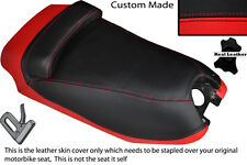 BLACK & RED CUSTOM FITS HYOSUNG GRAND PRIX 125 DUAL LEATHER SEAT COVER