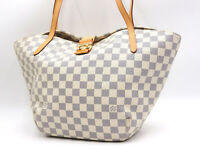 Authentic LOUIS VUITTON Salina PM Damier Azur Shoulder Tote Bag N41208 V-4891