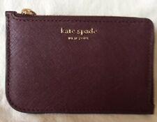 New Kate Spade Cameron Medium L-zip Card Holder Cherrywood Warm Vellum MSRP$89