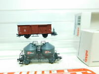 BU686-0,5# 2x Märklin H0/AC Güterwagen DB NEM KK: 46615 + 48751, NEUW+OVP