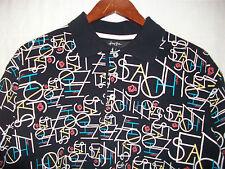 Sean John designer size L black polo signature shirt top