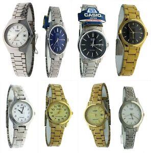NEW Casio Ladies Round Casual Metal Watch Varieties to choose Water Resistant