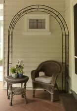 FRENCH PROVINCIAL GARDEN ARCH ARBOR ORNATE IRON METAL ANTIQUE STYLE SCROLLS