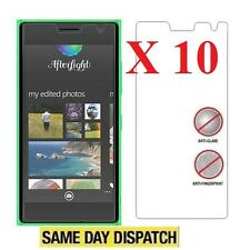 10 X Nokia Lumia 730 735 Anti-Glare Matte Screen Protectors Film Cover & Cloth