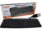 TASTIERA PER PC USB DESKTOP 108 TASTI + 9 MULTIMEDIALI CON FILO LINQ K3