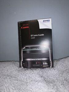 Original 2009 Canon EF Lens Guide (Jessops) VGC