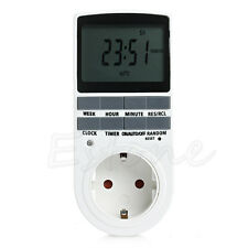 7 Day 12/24 Hours Programmable Digital Energy-saving Timer Socket Switch Plug EU