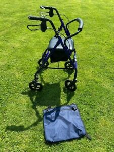 Mobility Walking Frame with Swivel wheels, Brakes,Seat & Basket-VGC- Hardly Used